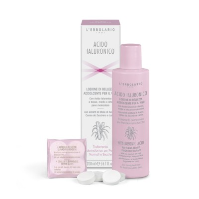 Hyaluronic Acid Softening Beauty Lotion for the face - Skin toning treatment for Normal and dry Skin
