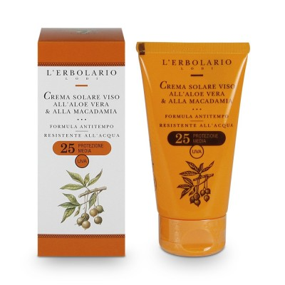 Sun and Open Air - Face Sun Cream with Aloe Vera & Macadamia - SPF 25 - 75 ml